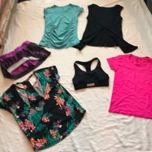 6 pc bundle size small athletic clothing PINK +